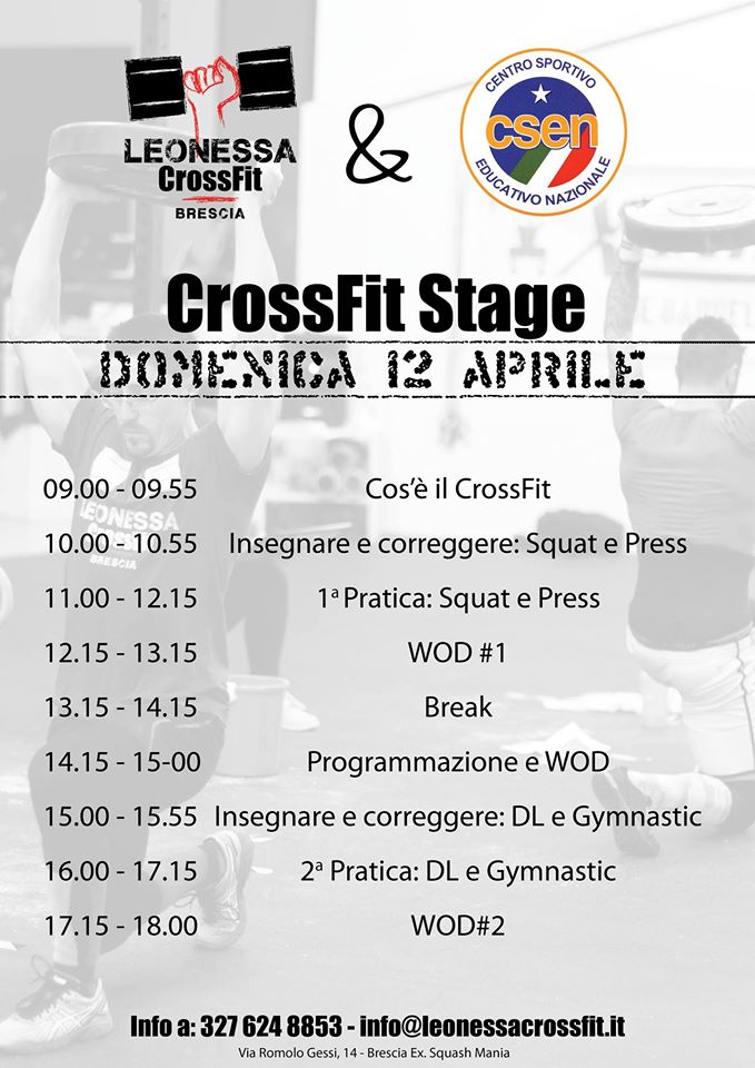 CrossFit Stage Locandina